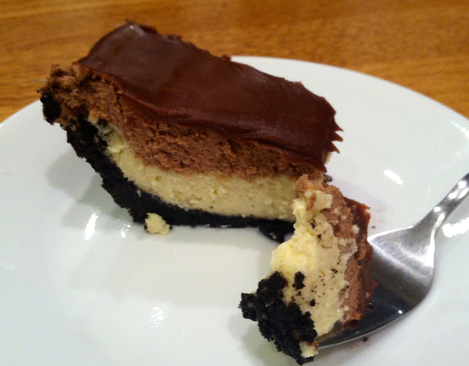 menu managed: Chocolate Mousse Cheesecake Pie