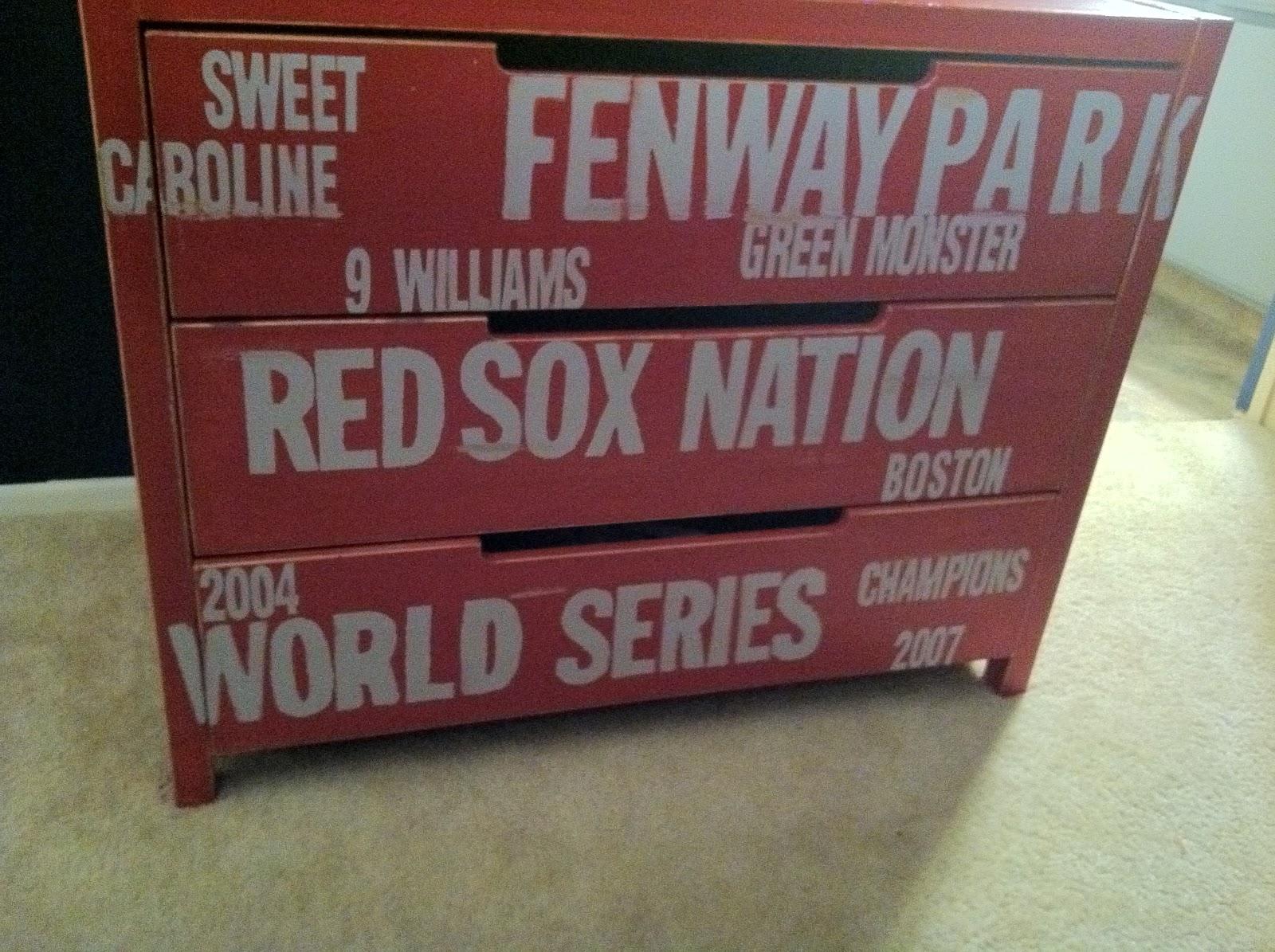 htttp   www hellolifeonline com  Subway  desser  red sox. Red Sox Dresser Ikea Hack   Hello Life
