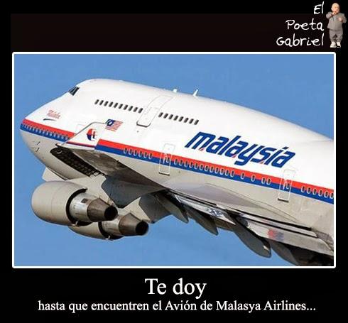 Te doy hasta que encuentren el Avión de Malasya Airlines