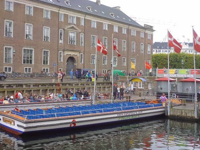 Barco turístico Copenhague
