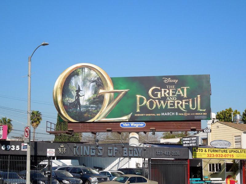 Oz Great Powerful movie billboard