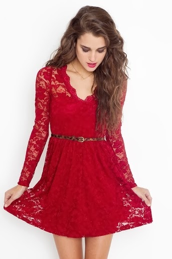 Red Rosalind Lace Dress