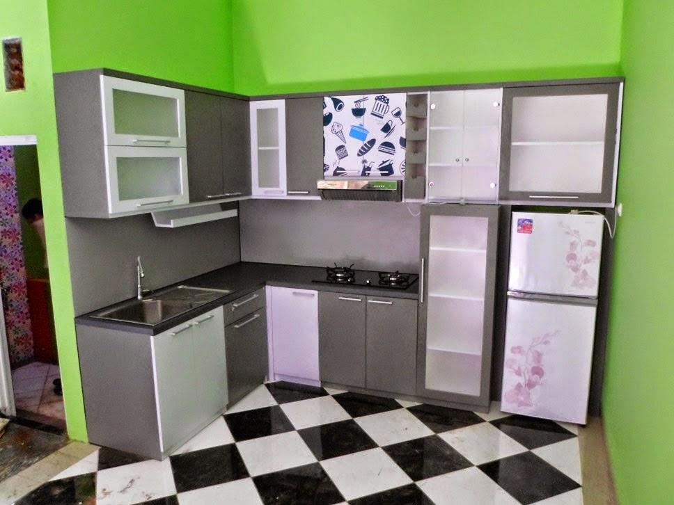 Kitchen Set Hitam Putih Monochromatic Kitchen Set Semarang