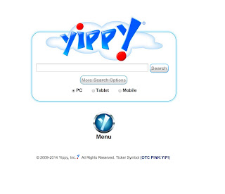 Yippy home page
