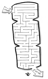 Christmas cracker maze, activity for children