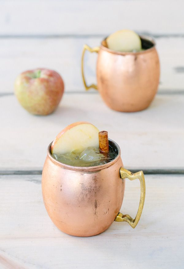 Thanksgiving in copper Moscow Mules