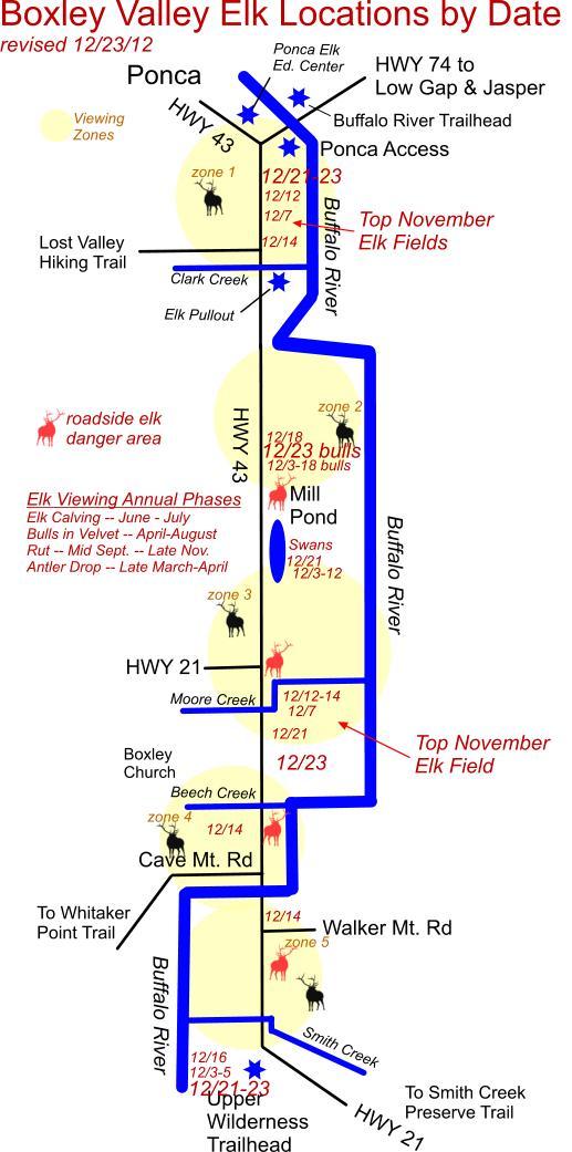 12/23/12 Elk Herd Locations