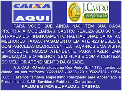 CAIXA AQUI - JCASTRO ADMINISTRAO DE IMVEIS