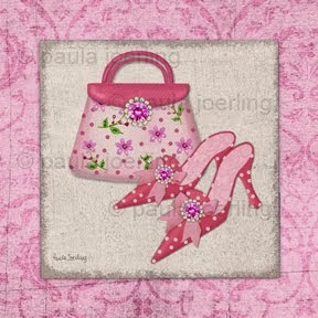 Pink Purse and Shoes