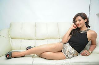 Preethi Rana lovely beauty in golden Mini Skirt and Black Tank Top Spicy Pics