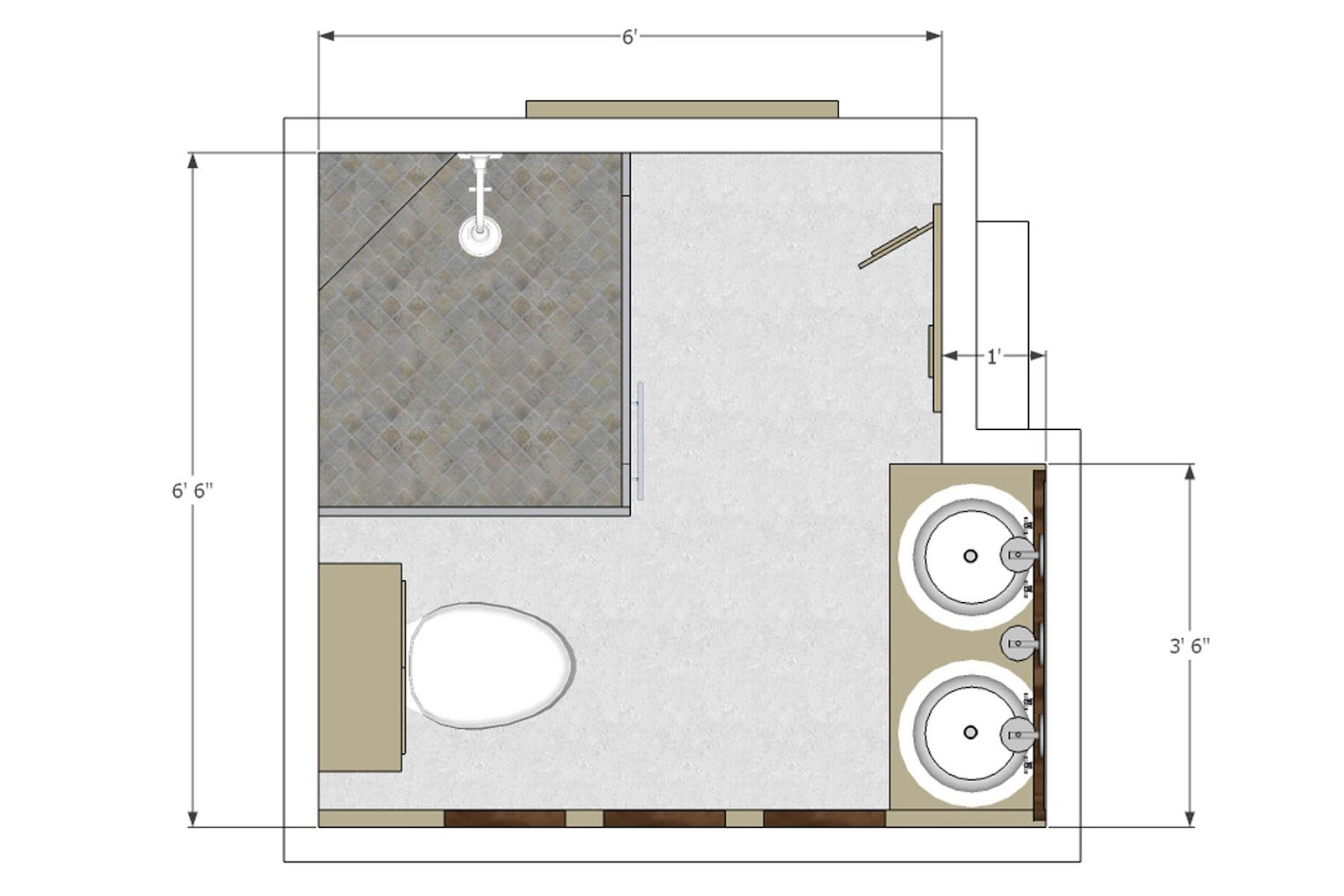 Basic bathroom layouts for Free floor layout