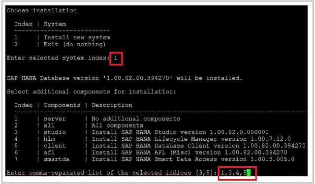 SAP HANA Install