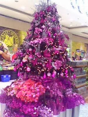 Fotos de rboles de navidad color violeta colores en casa - Arbol navidad colores ...