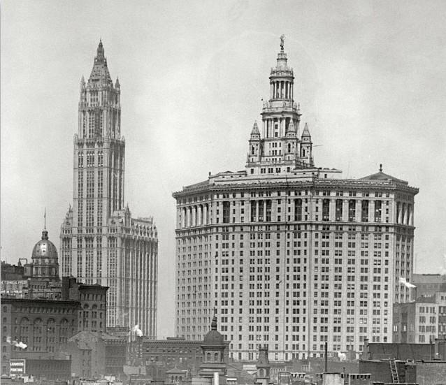 New York - History - Geschichte: Manhattan Skyline 1915
