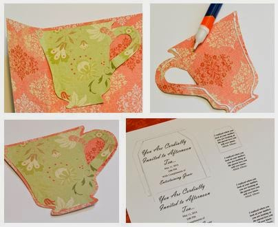 DIY Tea Cup Invitation