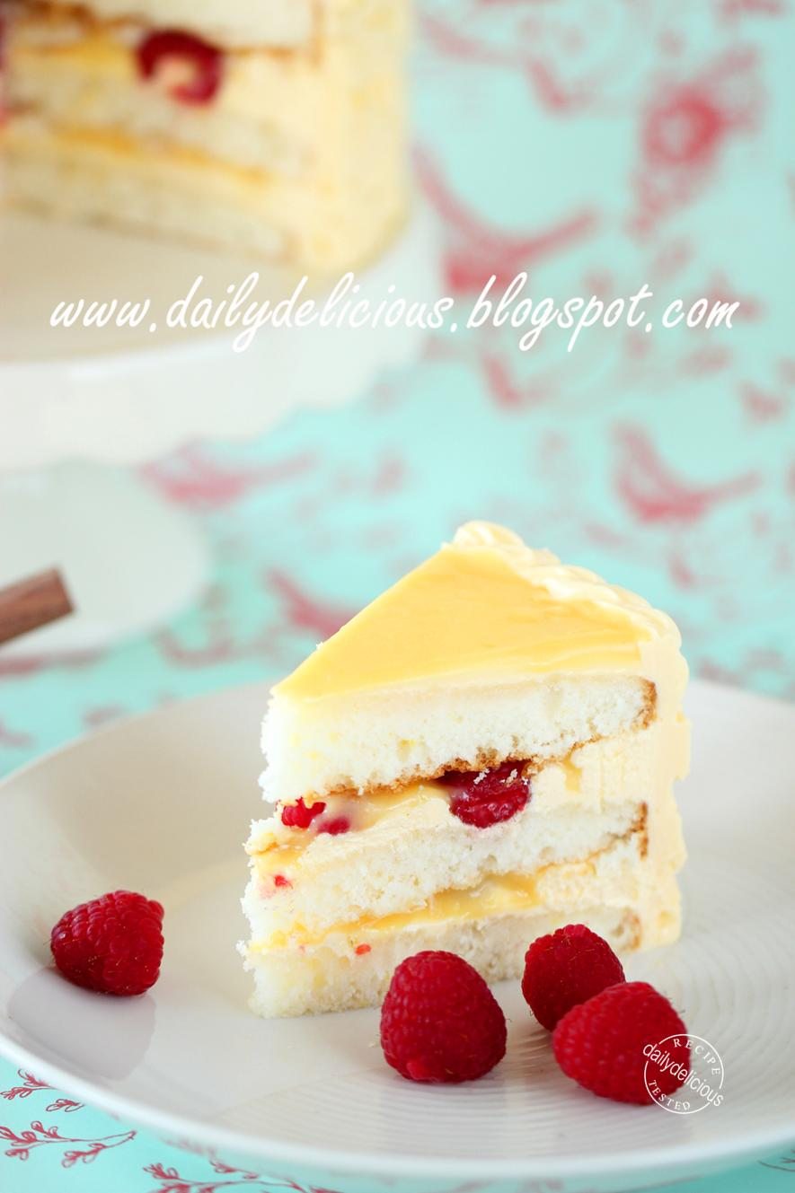 Lemon Raspberry Layer Cake Recipe Traduction