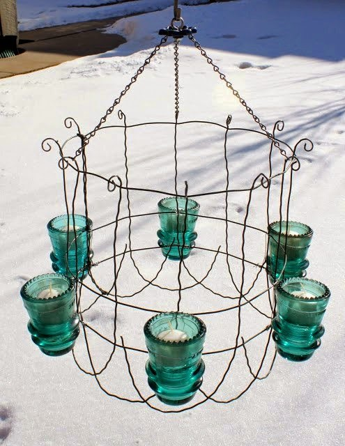 Dishfunctional designs the upcycled chandelier for Dishfunctional designs garden