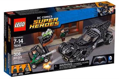 LEGO DC Comics Super Heroes  76045 Intercepción de Kryptonita | Kryptonite Interception  Batman v Superman: El Amanecer de la Justicia  Batman v Superman: Dawn of Justice   Producto Oficial Película 2016 | Piezas: 306 | Edad: 7-14 años  Comprar en Amazon España & buy Amazon USA
