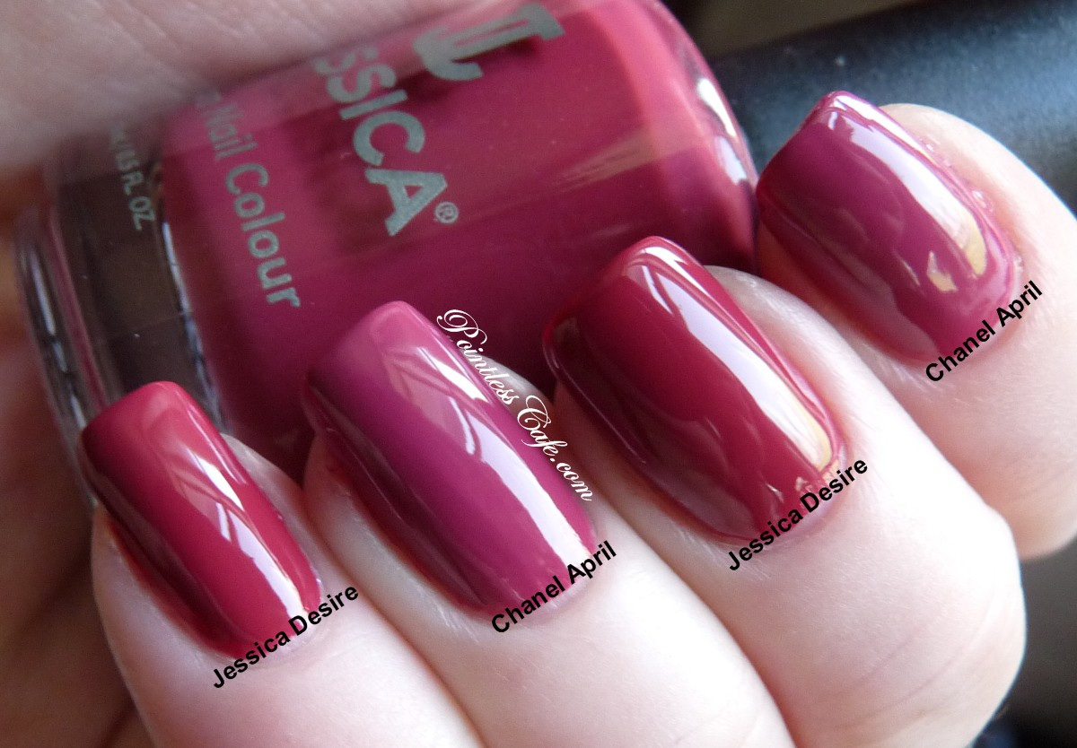 Jessica Custom Nail Colour vs Chanel April, May and June | Pointless ...