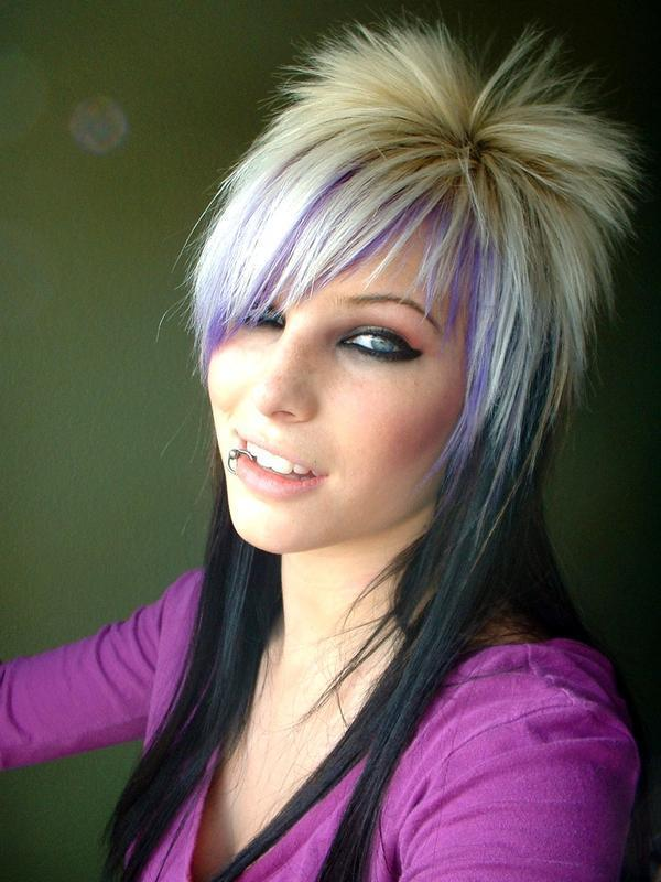 Women Fashion Hairstyle Emo Hairstyles