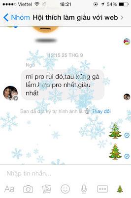 Hiệu ứng tuyết rới trên facebook messenger