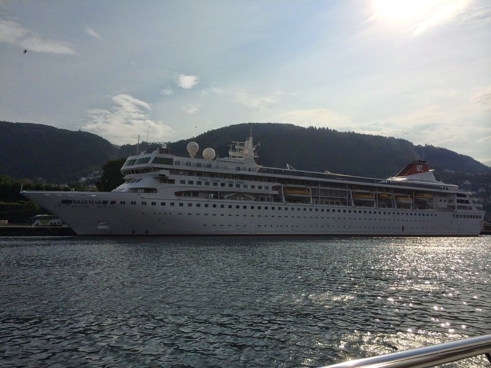 Cruise Ship Braemar in Bergen