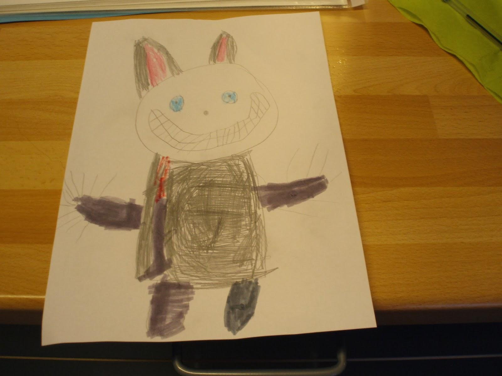 bilder av barna tegner i lag