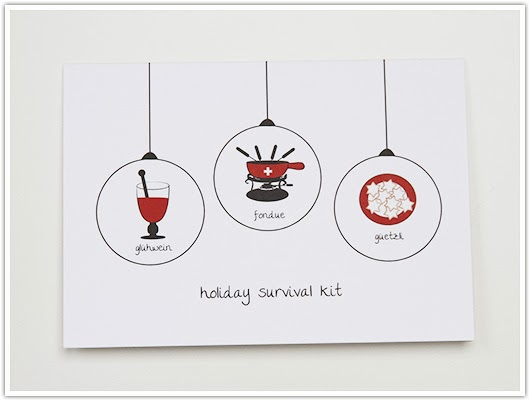 Holiday Survival Kit Card by Paper & Party Love