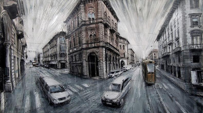 Nuevos paisajes urbanos desdibujada por Valerio D'Ospin