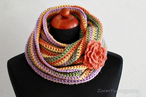 free crochet pattern easy infinity scarf
