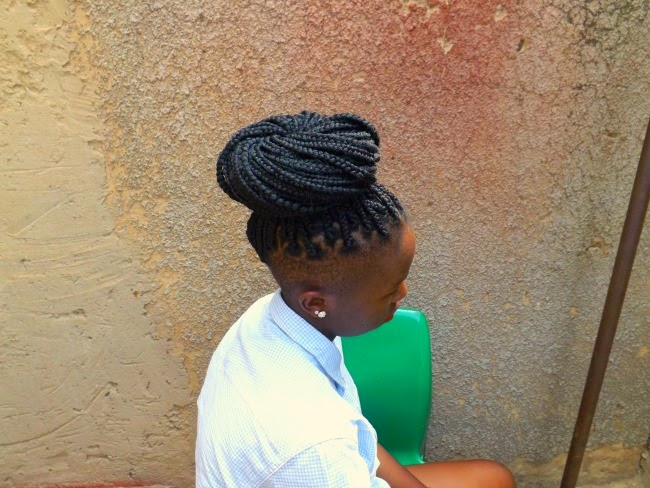box braids, high bun box braids, box+braids+shaved+sides, box+braids+undercut