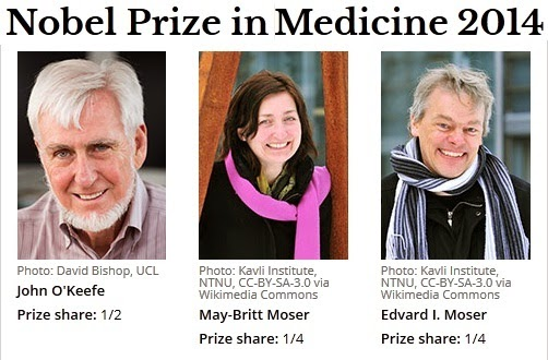 Nobel Prize in Medicine for Discovery of brain's 'Inner