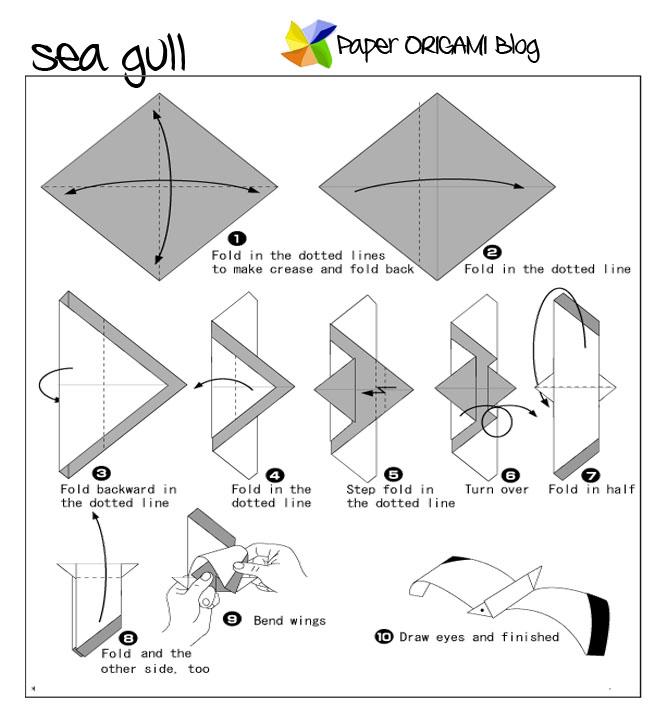 Origami Sea Gull