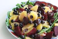Salada de Laranja e Beterraba (vegana)