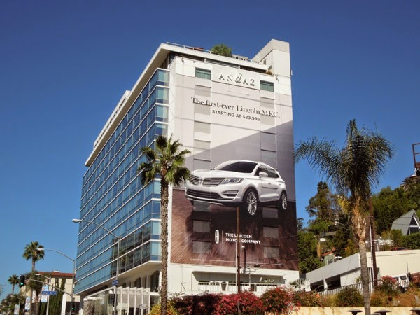 Giant Lincoln MKC car billboard Sunset Strip