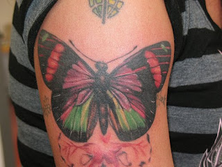Butterfly Tattoo Design on Arm - Arm Tattoo