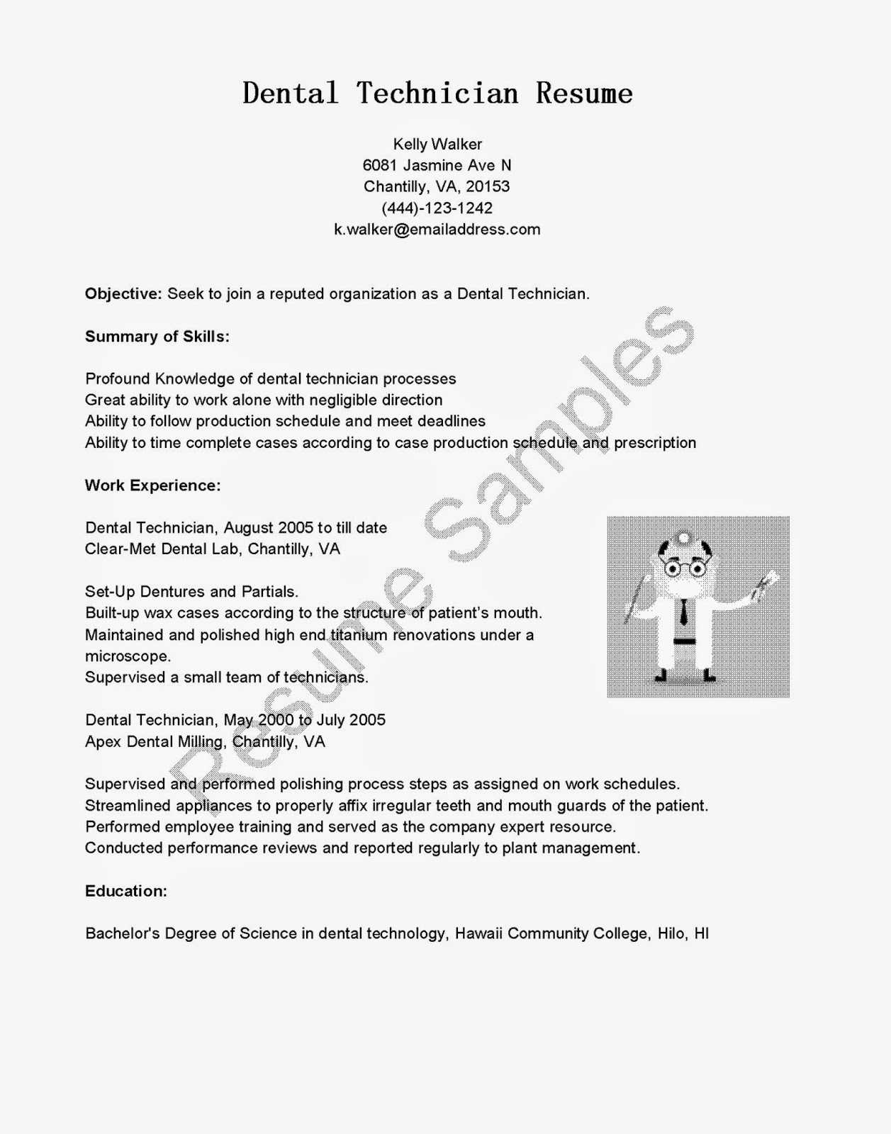 tech resume template