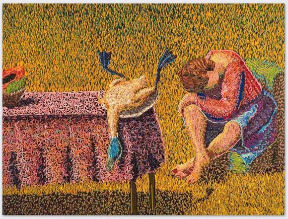Federico Uribe pinturas feitas com lápis Irreparável