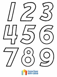 treinar a caligrafia dos numerais