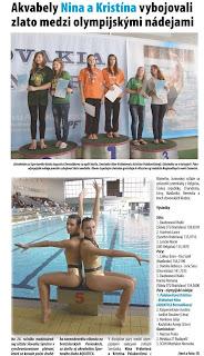Senecko č. 46 / 2011 : Akvabely Nina a Kristína vybojovali zlato medzi olympijskými nádejami