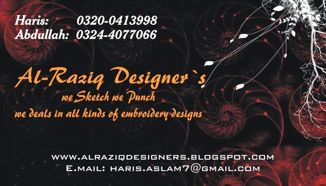 Al Raziq Designers Embroidery Designs 2015