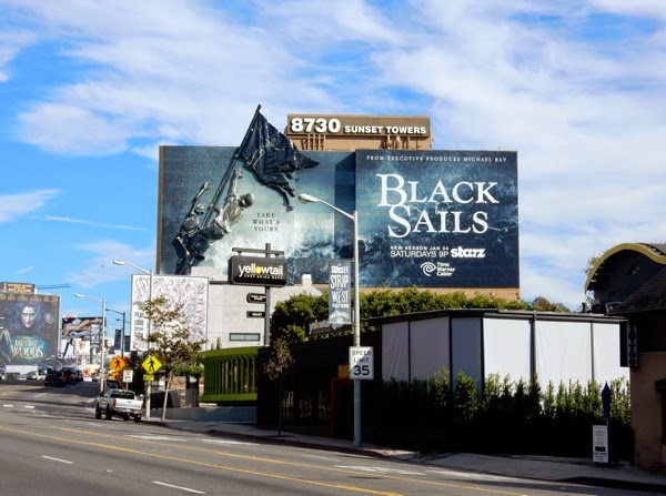 Giant 3D Black Sails season 2 billboard