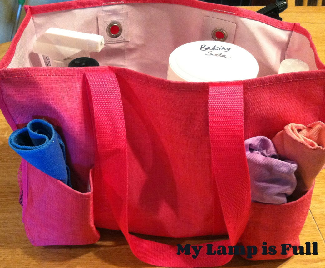 make a portable cleaning tote
