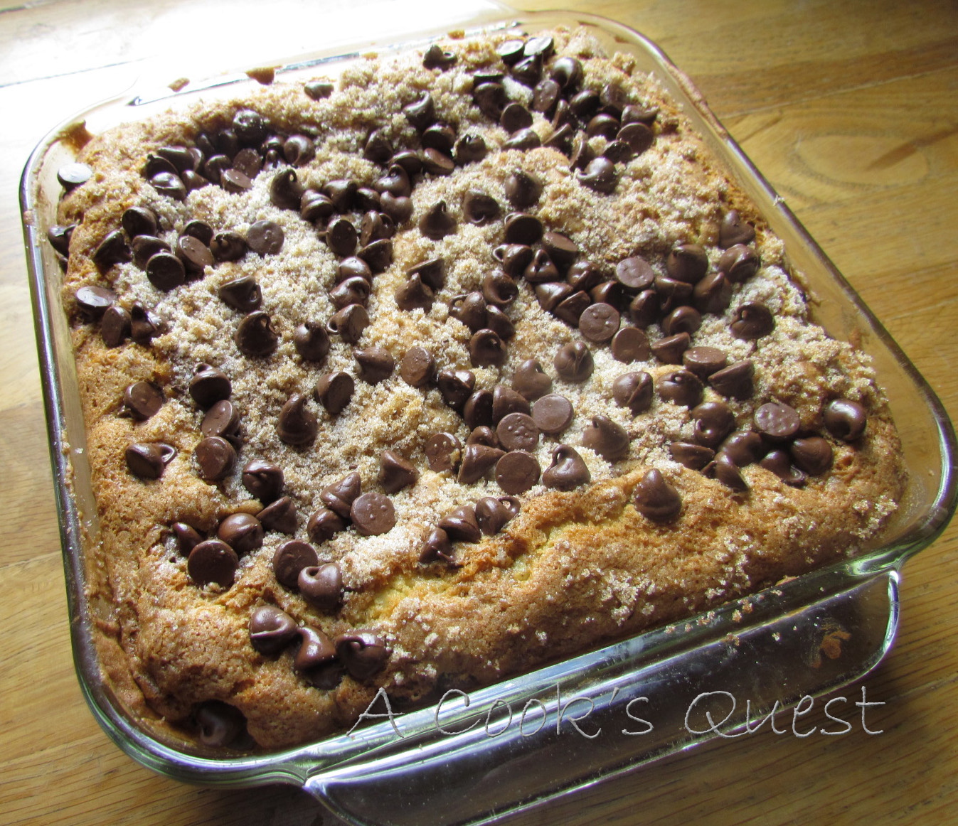A cook 39 s quest chocolate chip coffee cake for Living room 5 minute chocolate cake