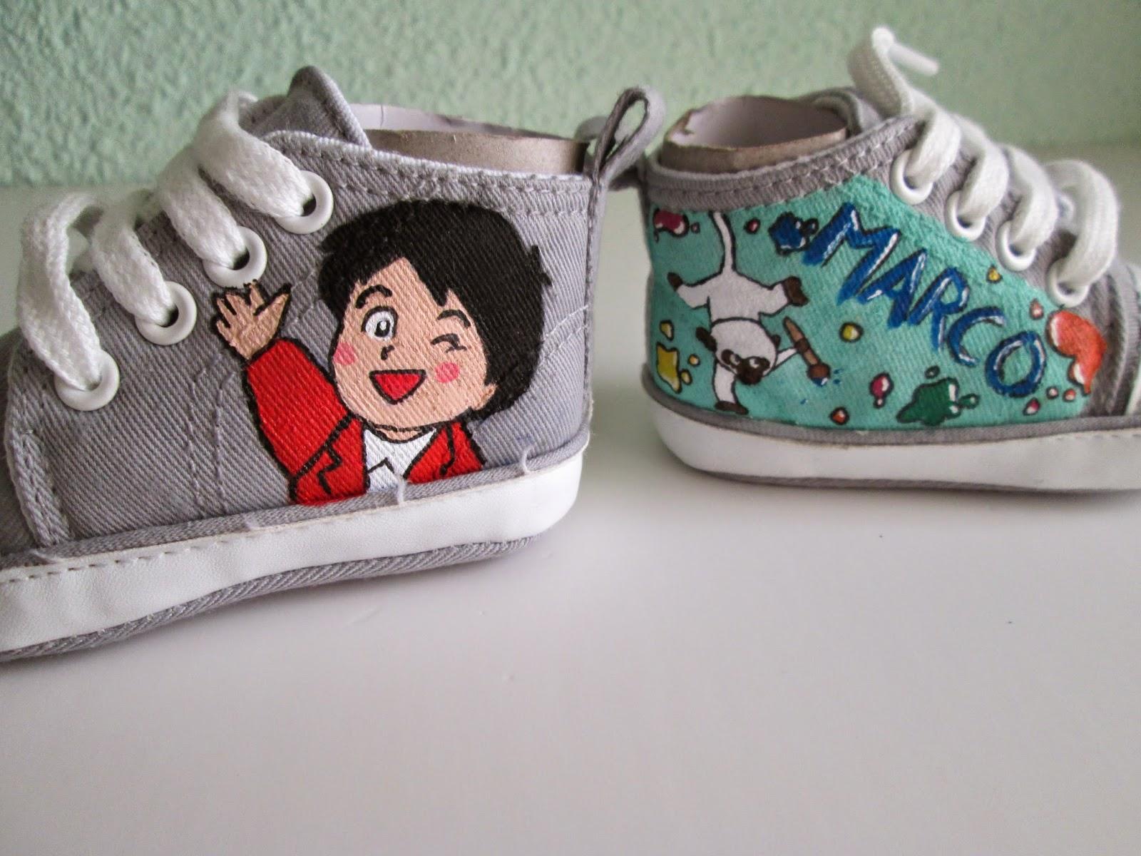 zapatillas bebe pintadas personalizadas