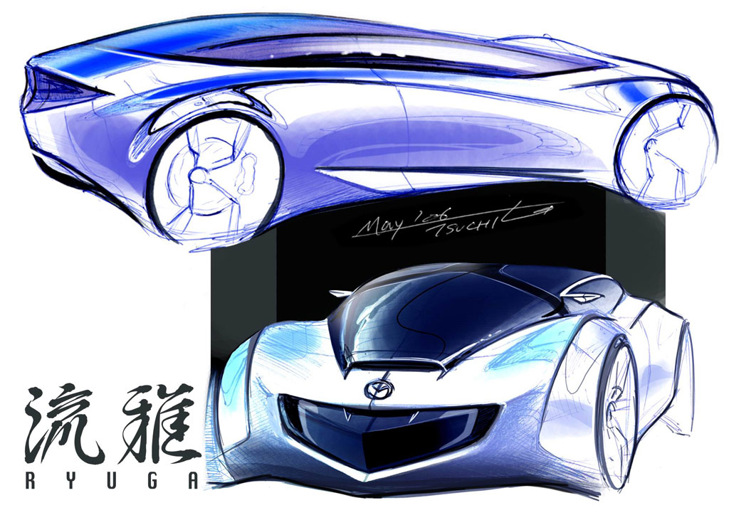 Mazda Ryuga - 2007 | Supercar Sketches Gallery