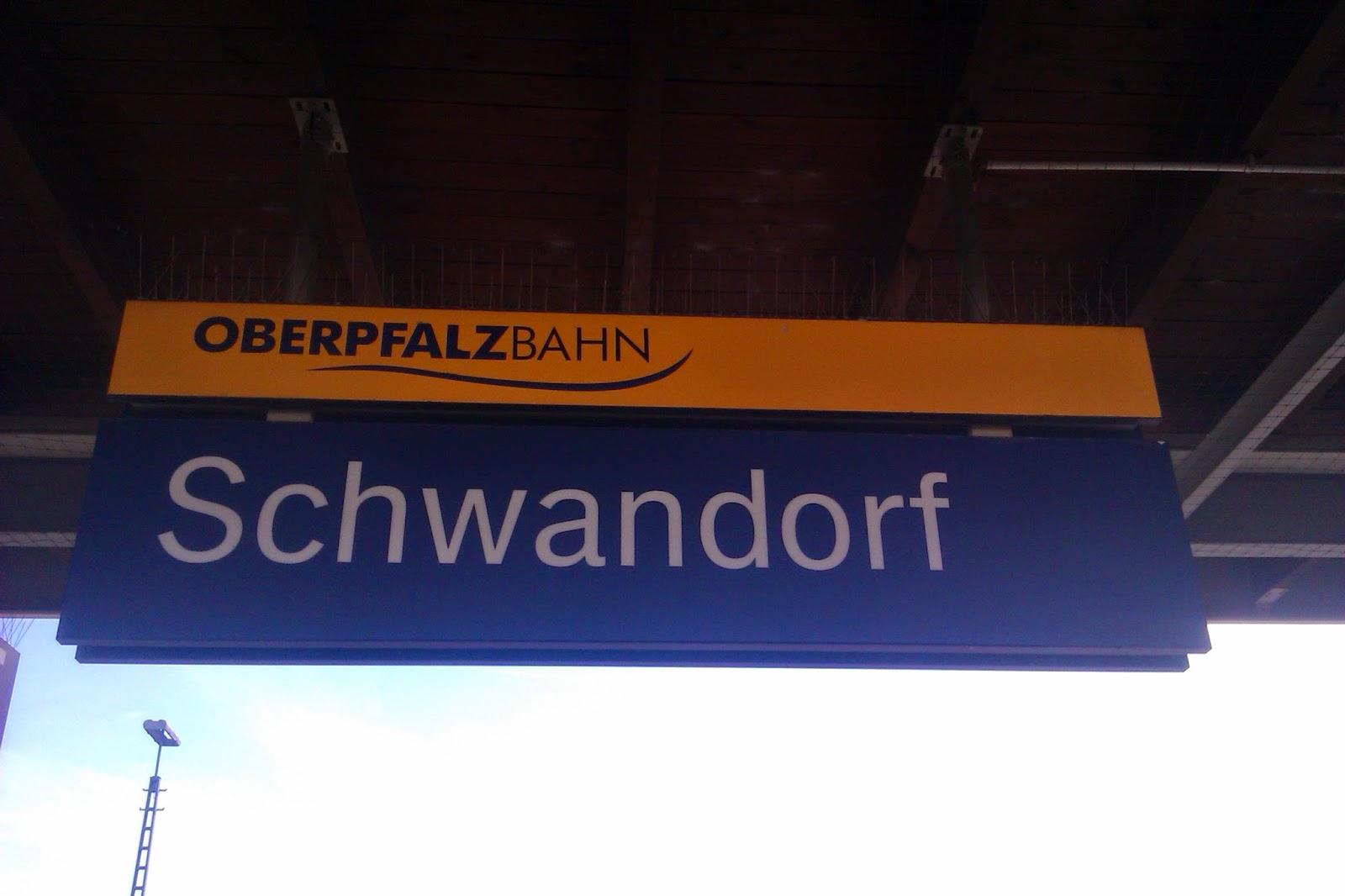 Zug Schild Schwandorf
