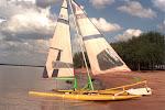 carro a vela catamarán