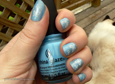 China Glaze Bahamian Escape. Layla Mercury Twilight. Konad m36.