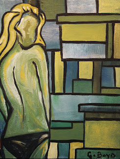 Green Lady Original Painting